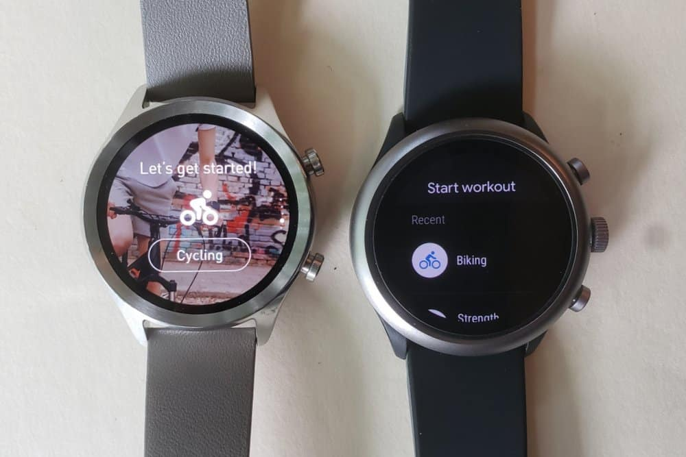 ticwatch c2 vs fossil sport smartwatch fit workout ticexercise