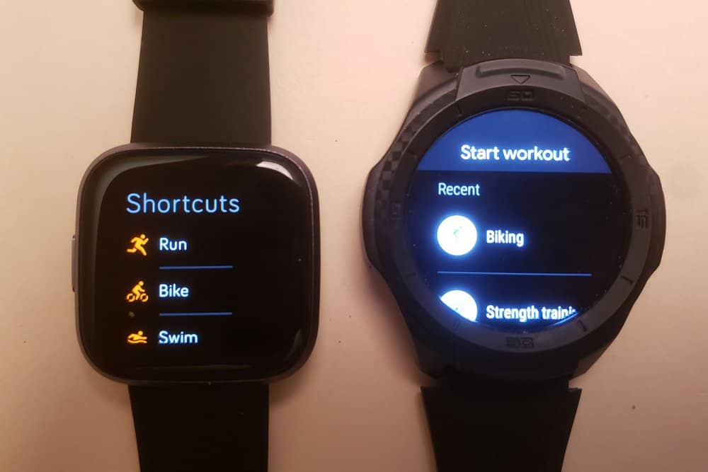 Ticwatch S2 vs Fitbit Versa 2 google fit fitbit exercise