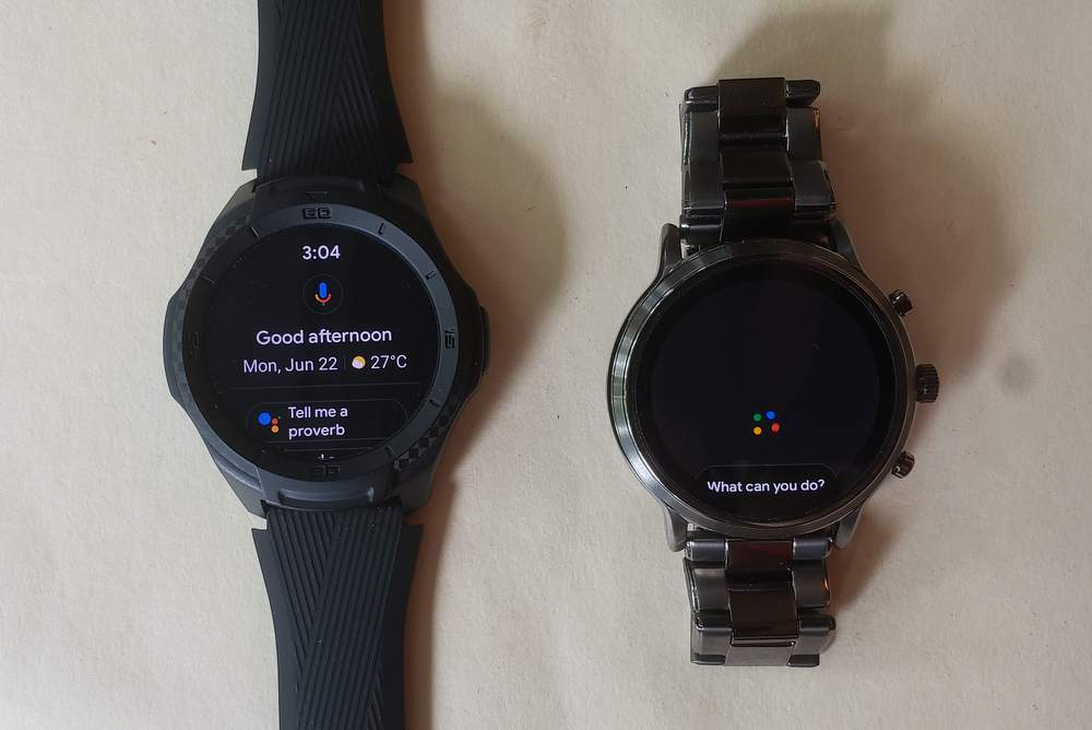 ticwatch s2 vs fossil gen 5 carlyle google assistant