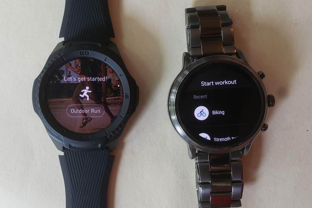 ticwatch s2 vs fossil gen 5 carlyle exercise