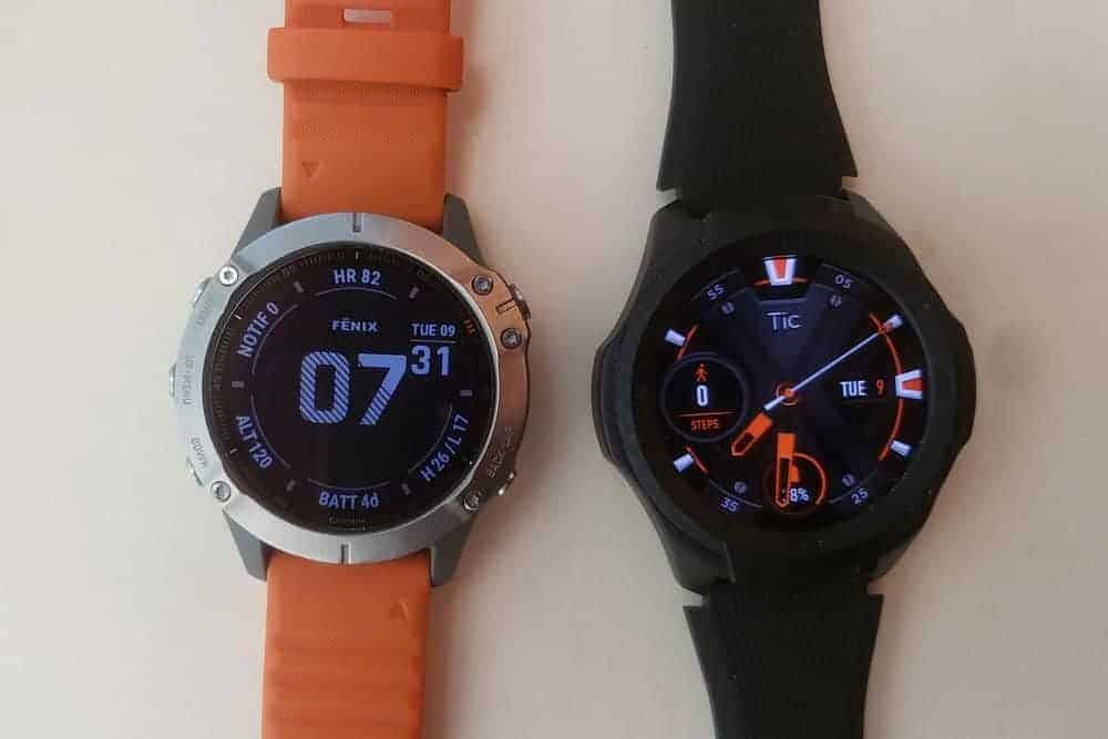 Ticwatch S2 vs Garmin Fenix 6