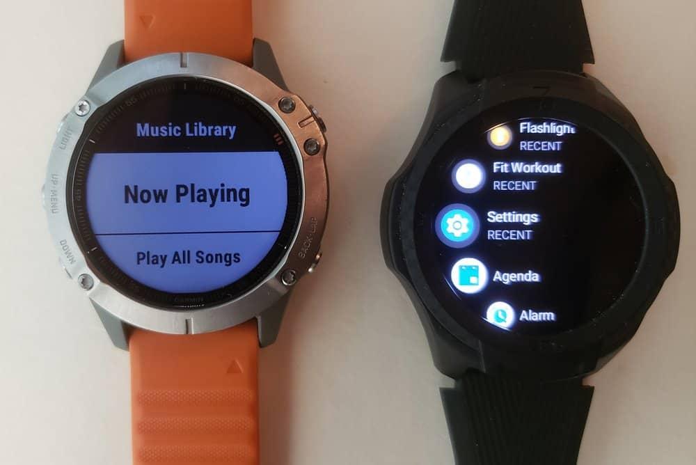 ticwatch s2 vs garmin fenix 6 music player