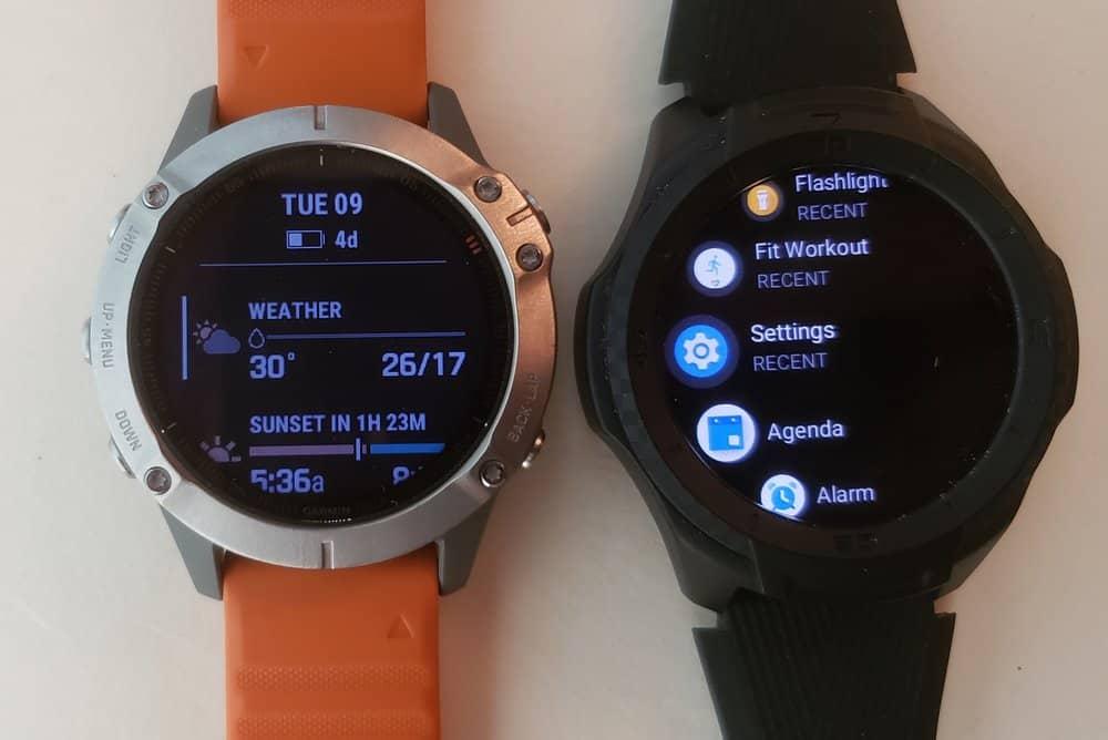 ticwatch s2 vs garmin fenix 6 apps