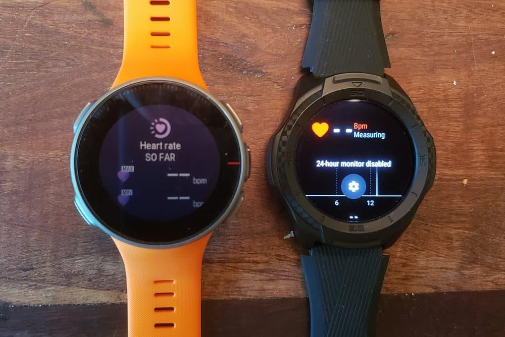 ticwatch s2 vs polar vantage v heart rate sensor