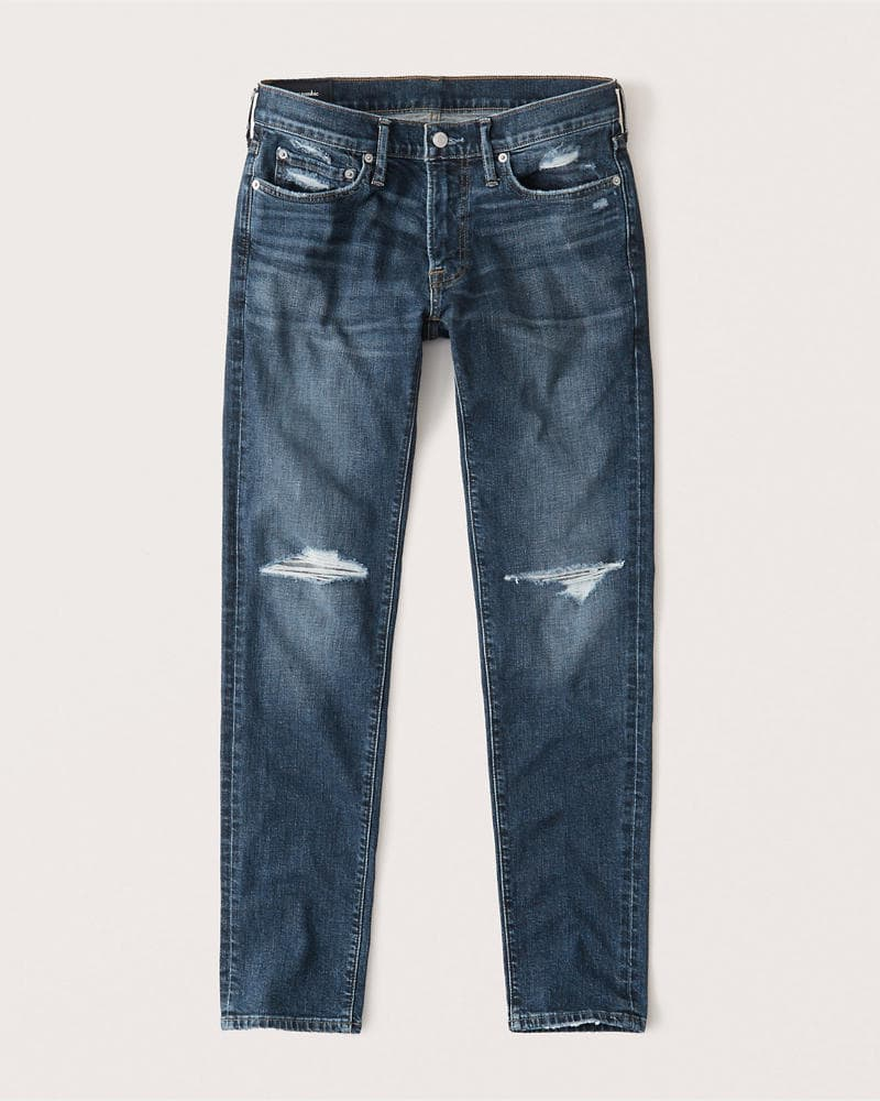 A pair of Abercrombie & Fitch jeans.