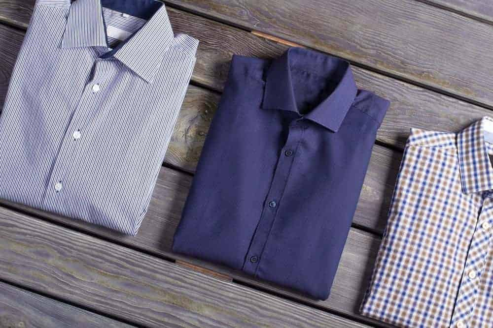 3 collar shirts in different design and colors.