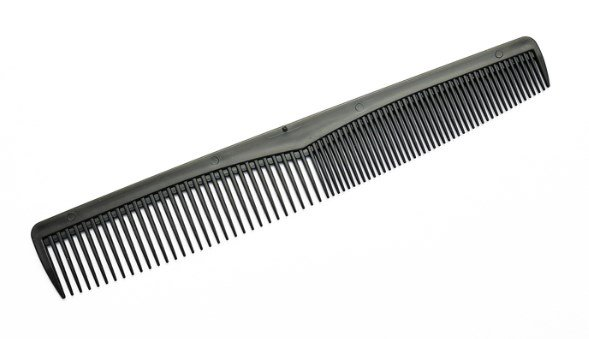 The all-purpose comb with its two sections.
