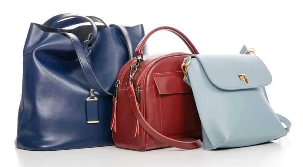 A pile of handbags.