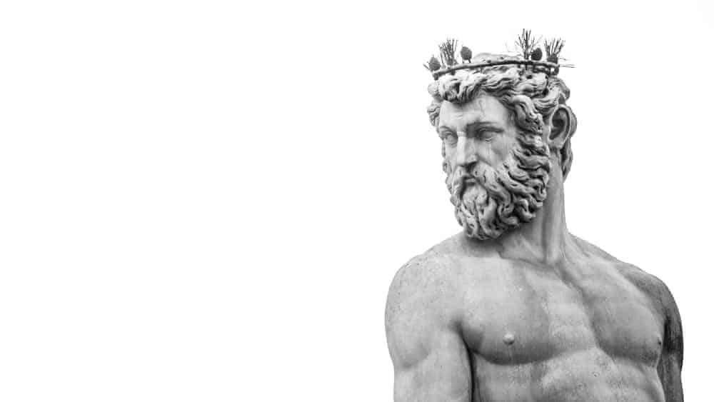 A look at an ancient Greek statue wearing a headband.