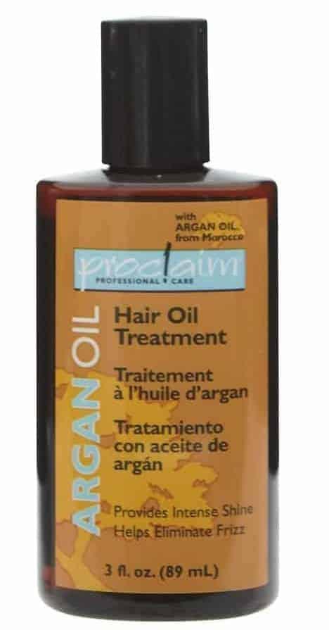 A bottle of Proclaim Argan Oil.