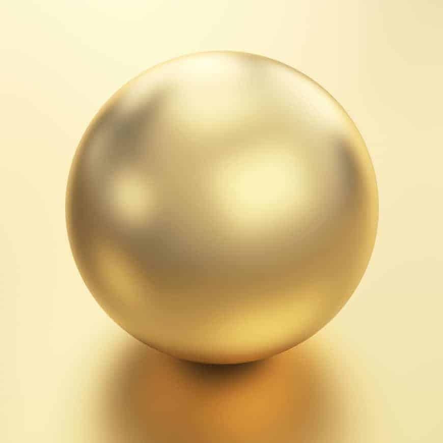A single golden Kasumiga pearl.
