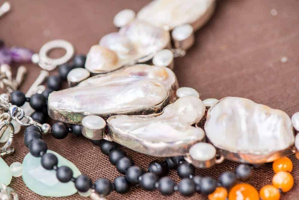 A variety of Biwa pearls.