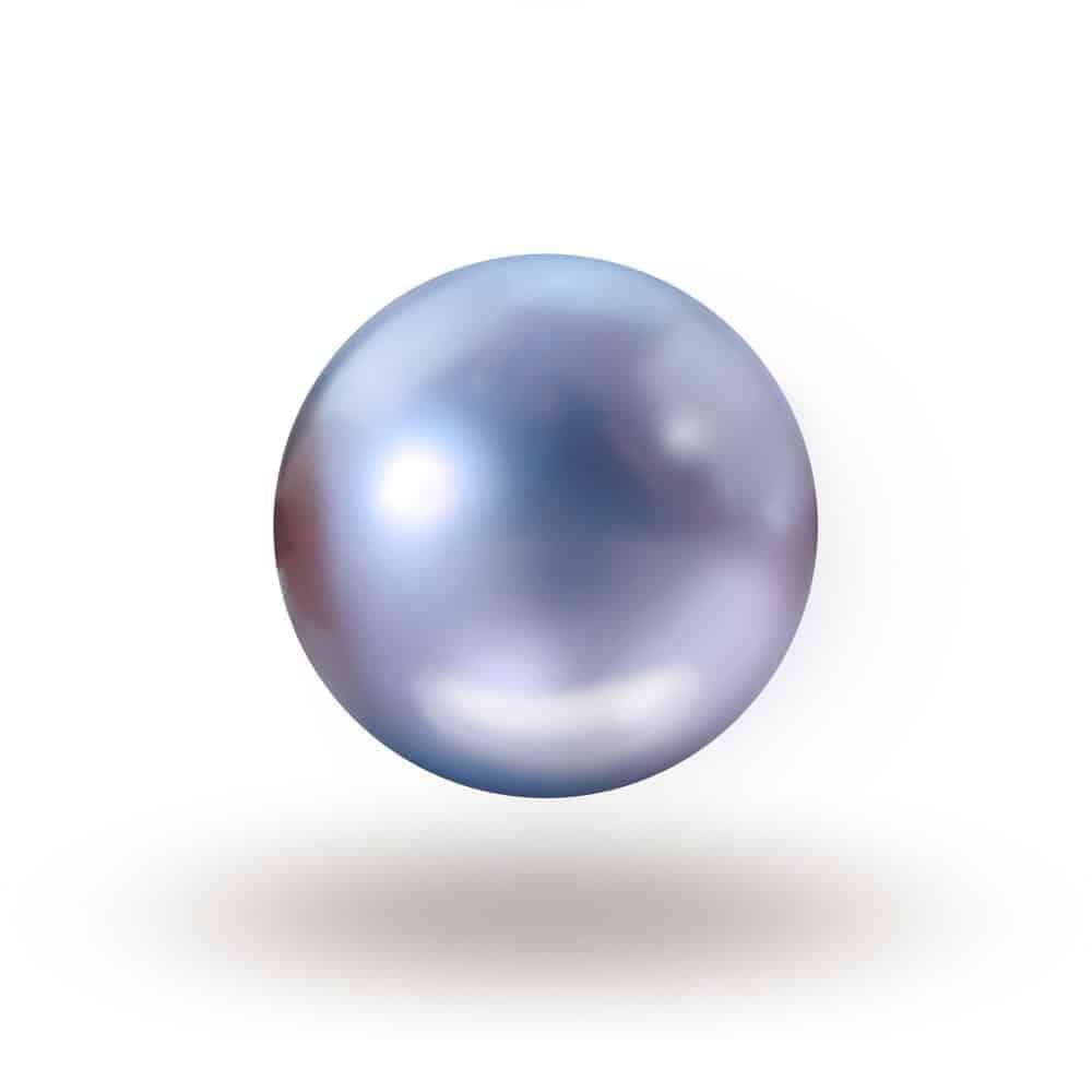 A single blue abalone pearl.