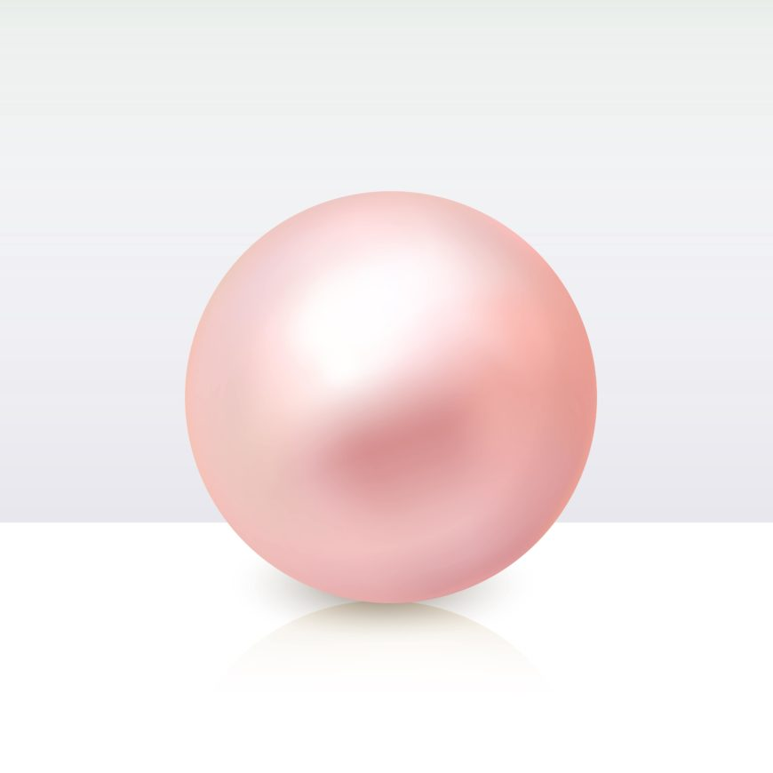 A single pink conch pearl.