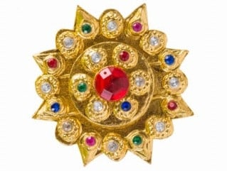 An Indian jewelry with ruby.