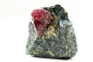 A look at Tanzania Ruby in a rock.