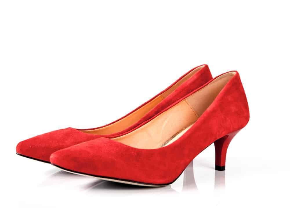 A pair of bold kitten heels.