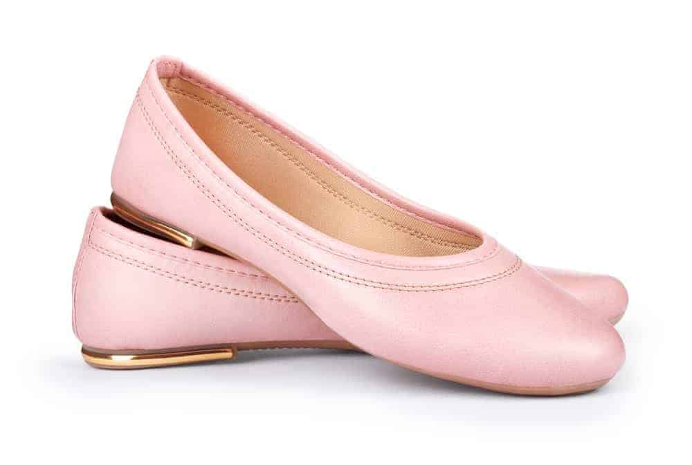 A pair of charming light-colored pumps.