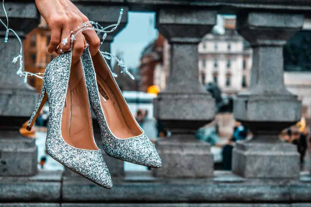 A pair of gorgeous sequin stilettos.