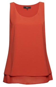 A Double Layer Tank Top in red.