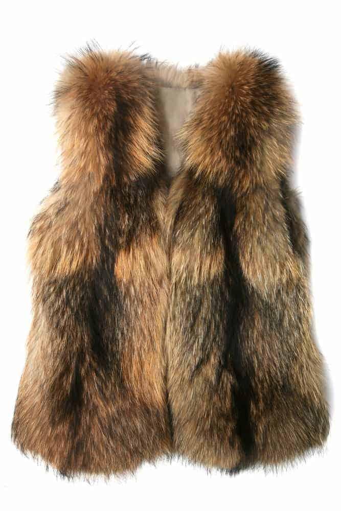 A brown fur vest.