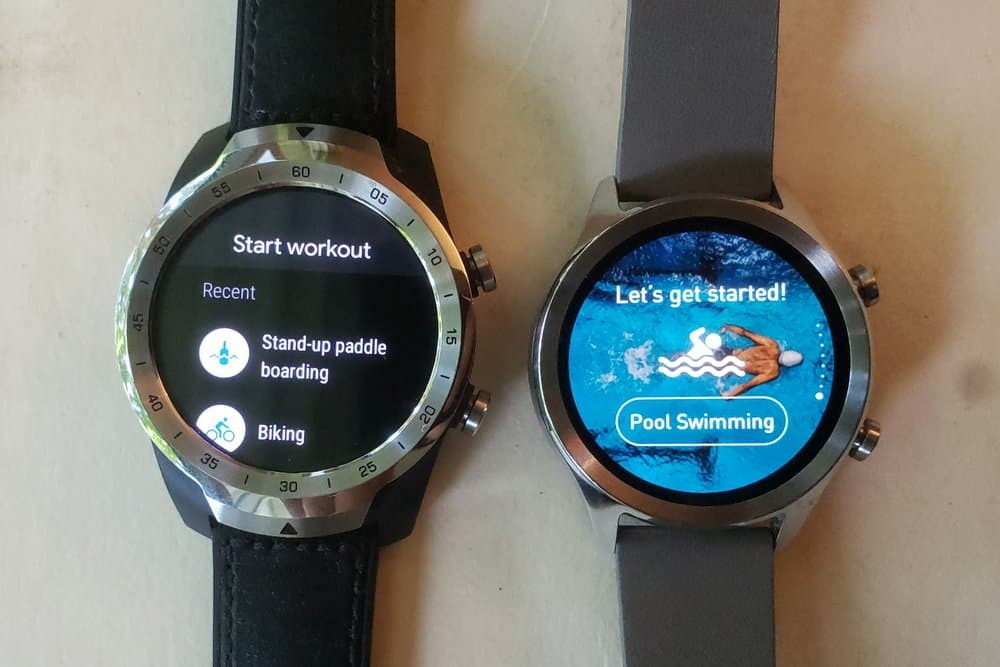 Ticwatch C2 vs Ticwatch Pro google fit workout ticexercise