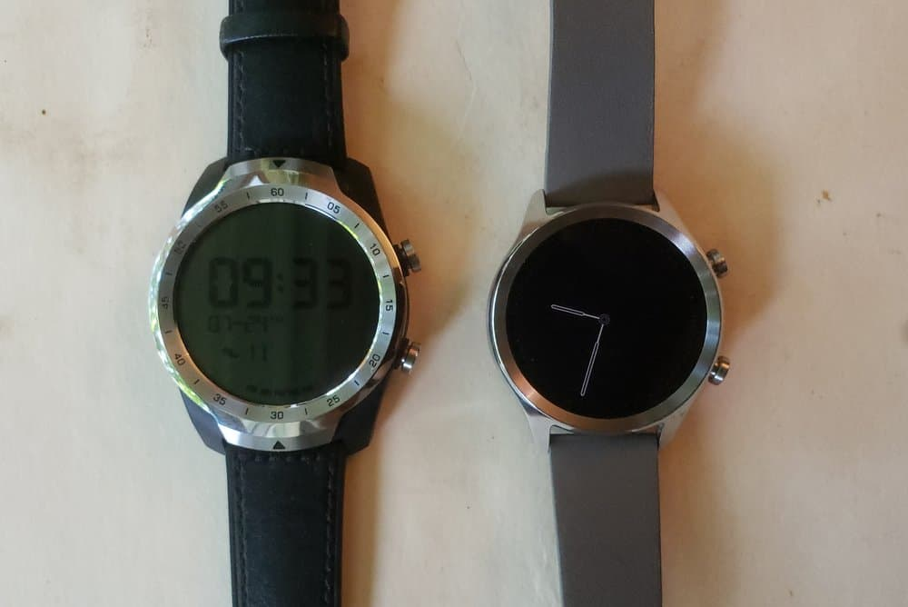 Ticwatch C2 vs Ticwatch Pro dual layer screen sleep mode