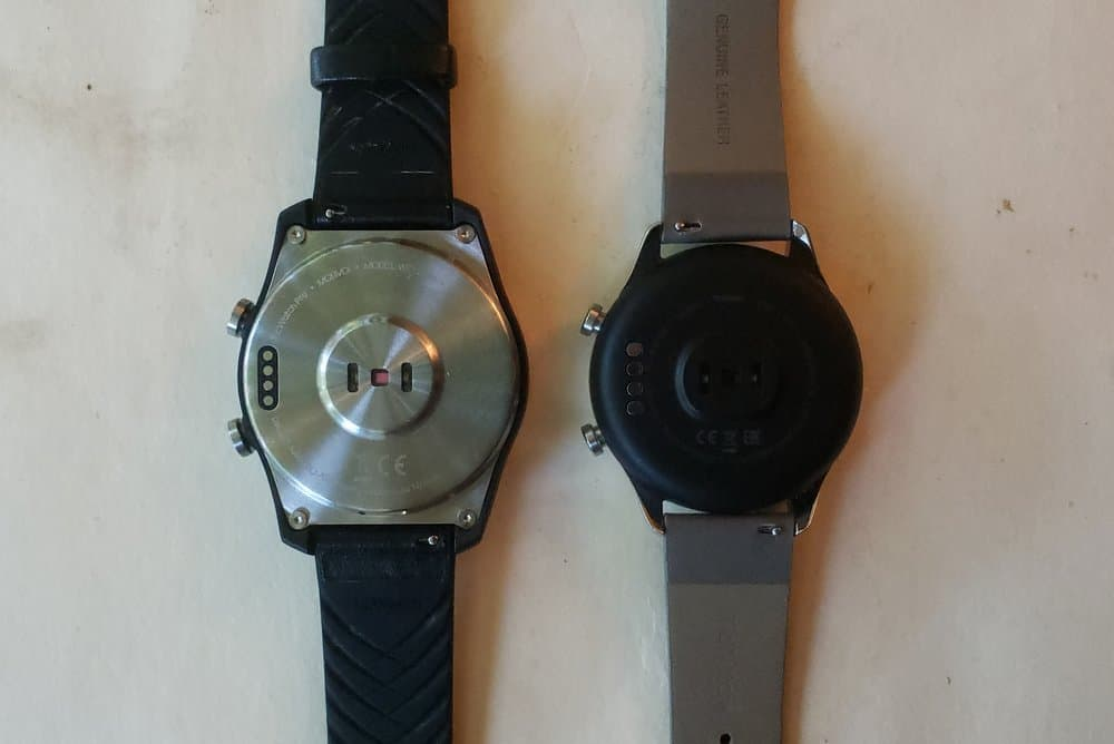 Ticwatch C2 vs Ticwatch Pro back heart rate sensor