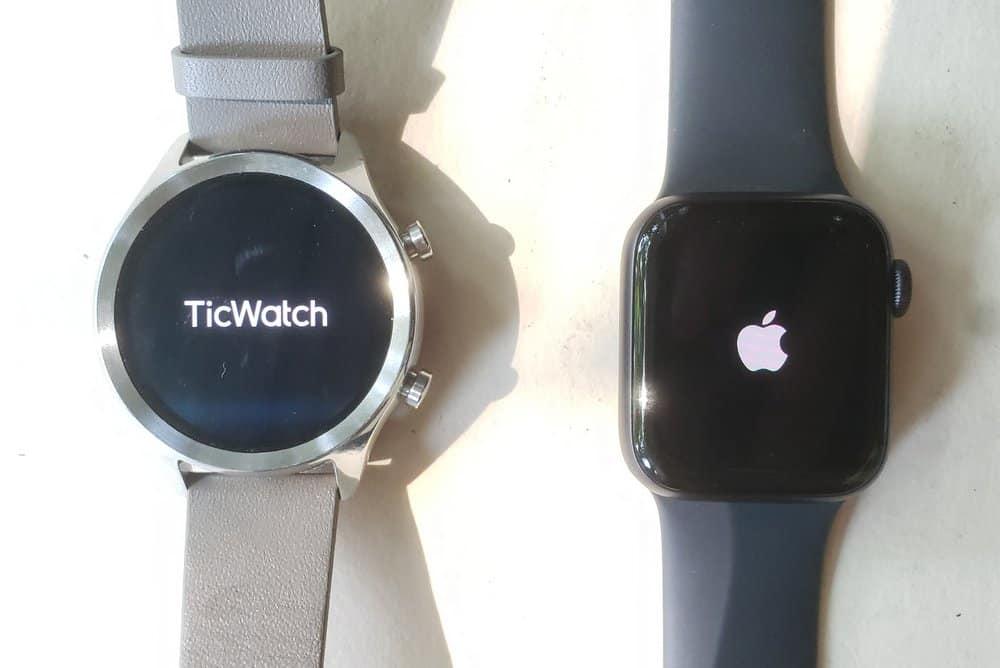 ticwatch c2 vs apple watch series 5 start up screen