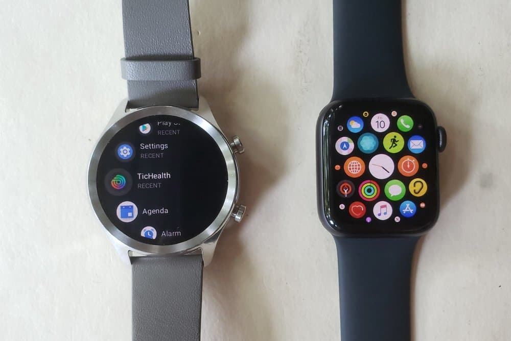 ticwatch c2 vs apple watch series 5 apps