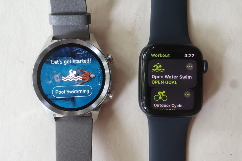 Winner: Apple Watch Series 5 swimming
