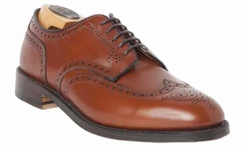 A Blucher shortwing shoe for men.