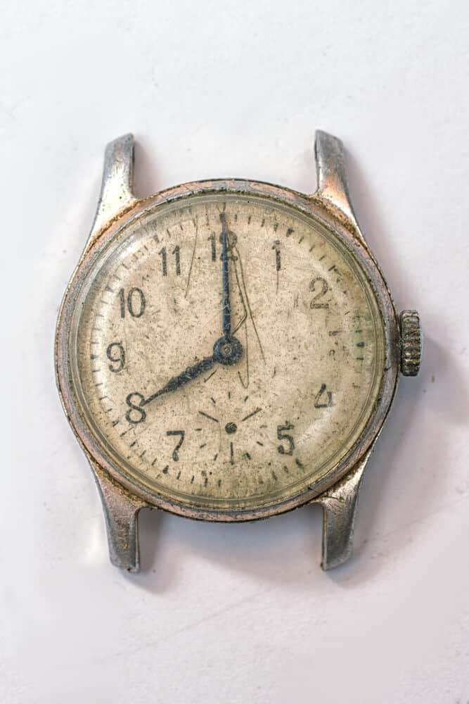An old wristwatch.