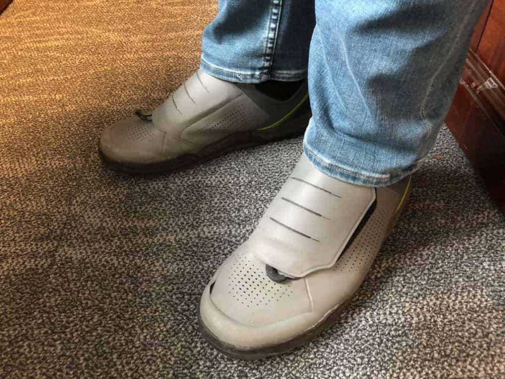 The Shimano GR9 shoe with jeans.