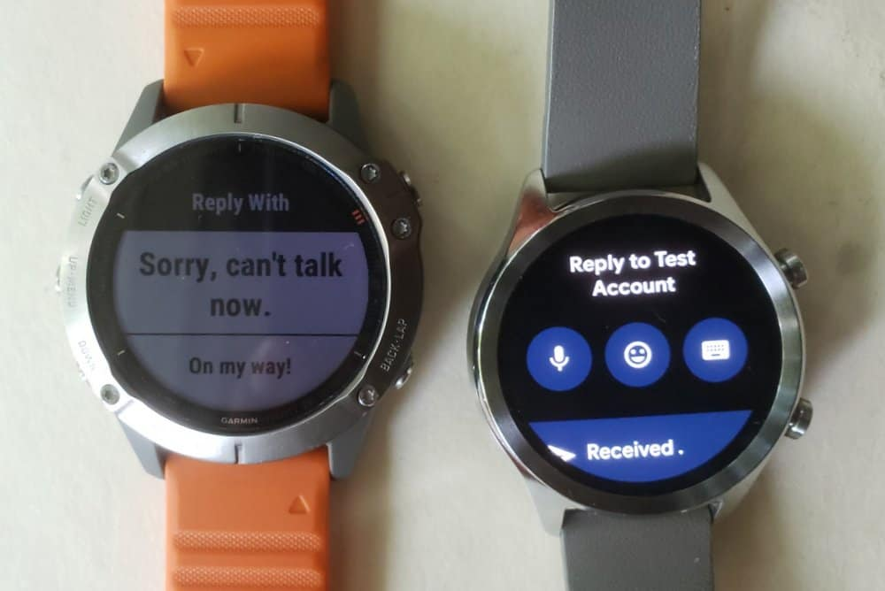 ticwatch c2 vs garmin fenix 6 reply to texts