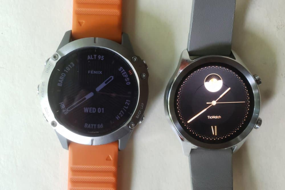 ticwatch c2 vs garmin fenix 6 watch faces