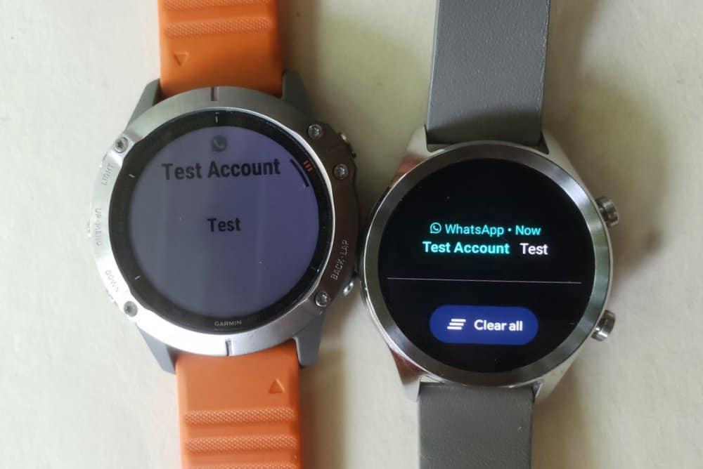 ticwatch c2 vs garmin fenix 6 text and emails
