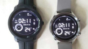 Ticwatch C2 vs Ticwatch E2 main screen
