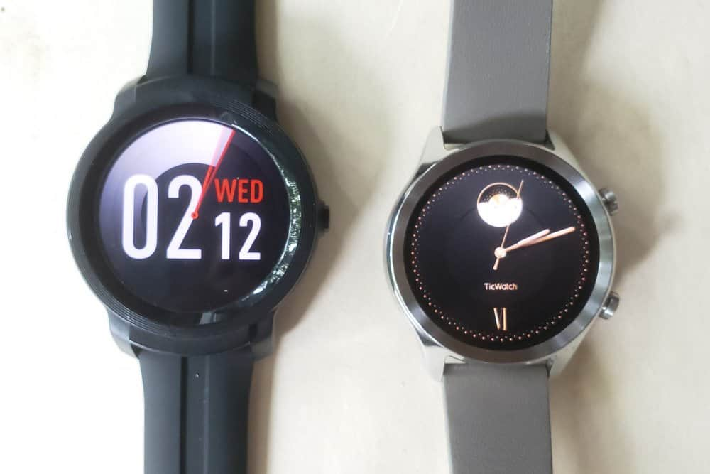 Ticwatch C2 vs Ticwatch E2 watch faces