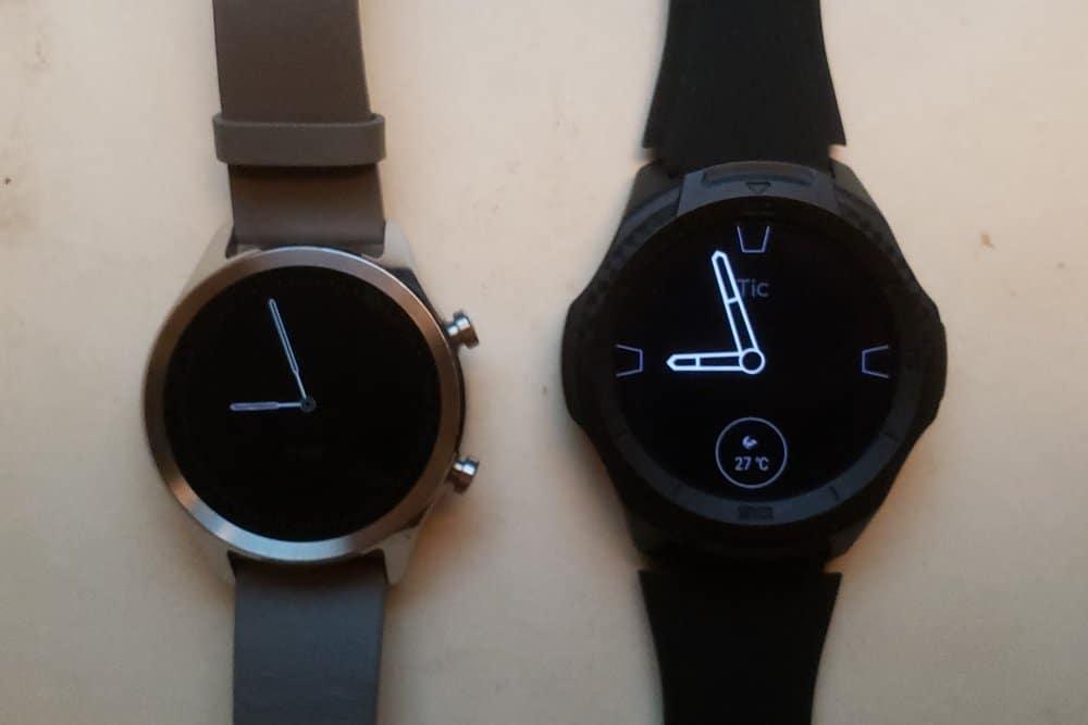 Ticwatch C2 vs Ticwatch S2 sleeping watch face