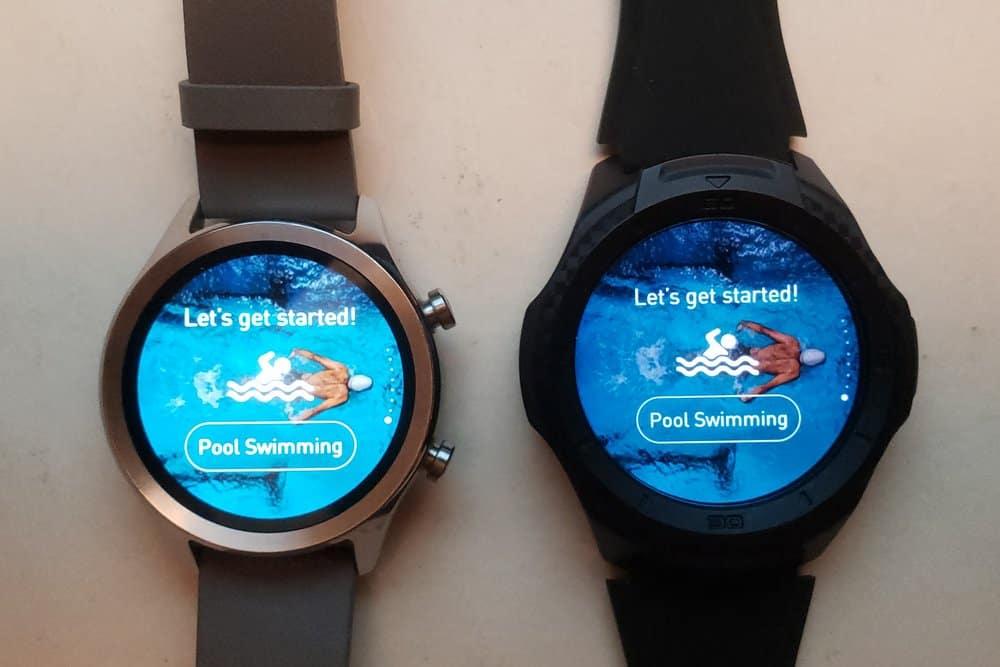 Ticwatch C2 vs Ticwatch S2 pool swim