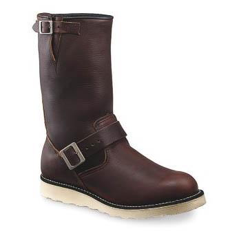 A red-brown Engineer Boot.