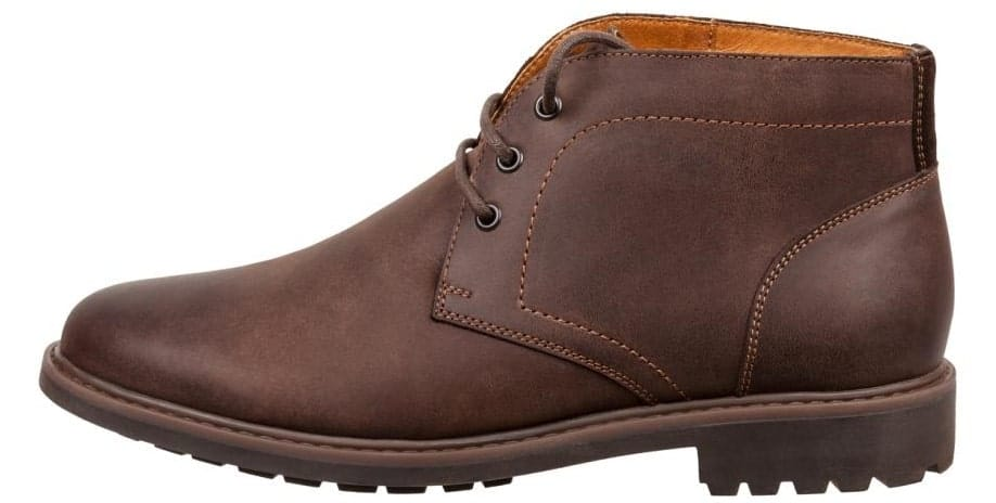 A dark brown Desert Boot.