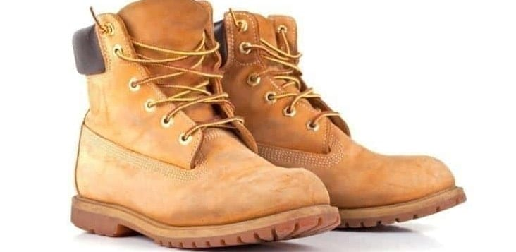 A pair of work boots.