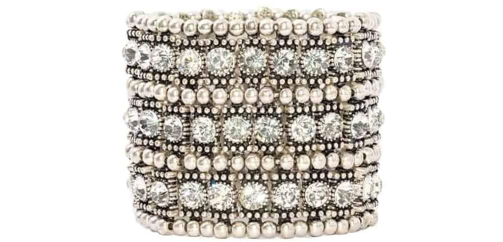A close look at a luxurious Diamond bracelet.