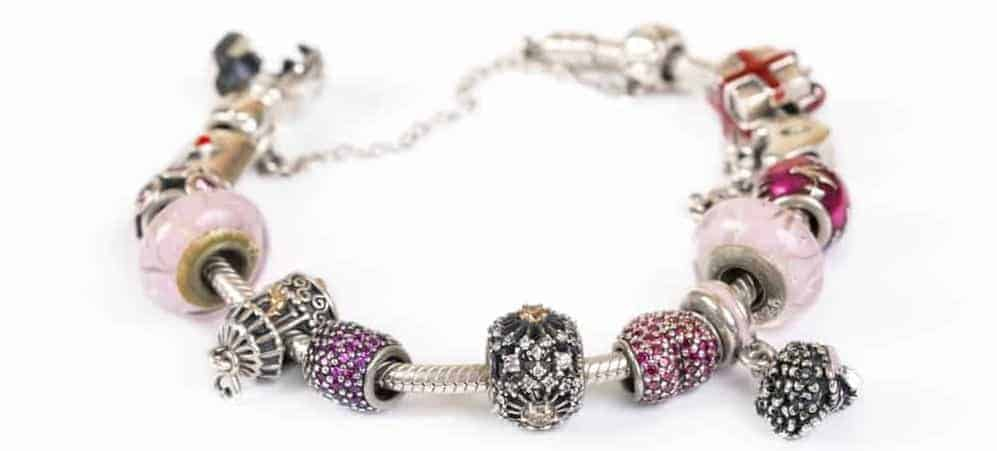 A look at a colorful Charm bracelet.