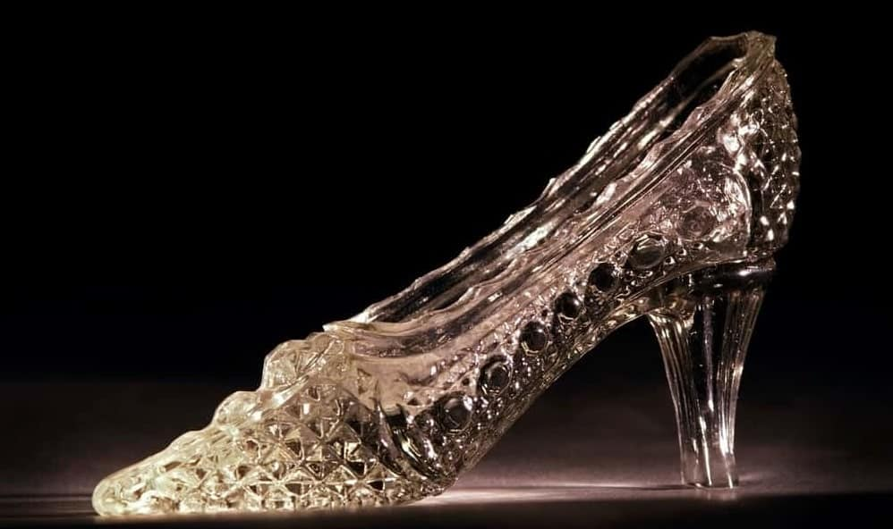 A look at a glass slipper.