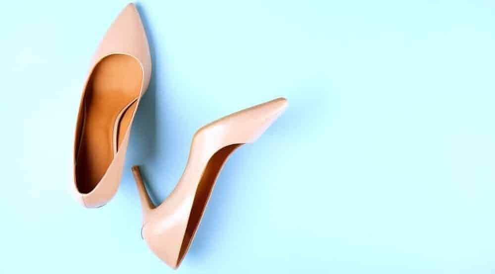 A pair of medium heels.