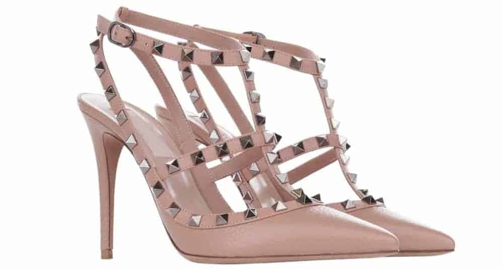 A pair of pink T-Strap Heels.