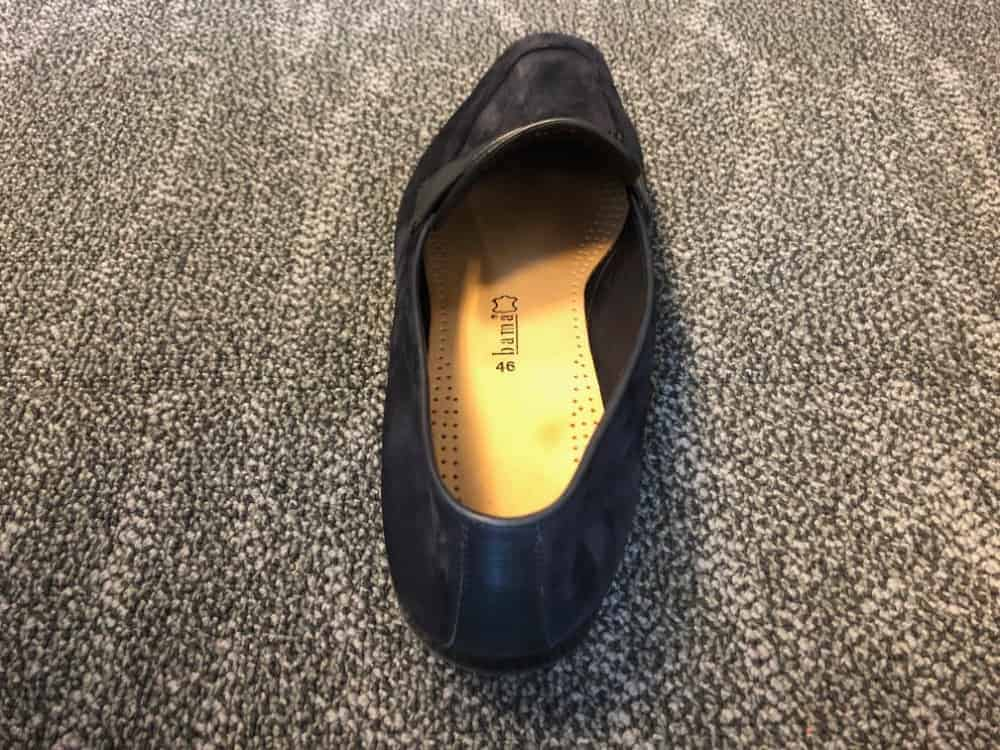 Rear top photo of Zegna A'Sola suede loafer shoe.